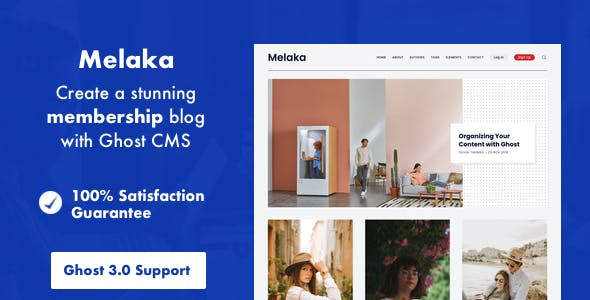 Download Melaka - Blog and Magazine Ghost 3.0 Theme