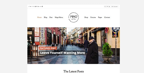 Miao - Fashion Magazine, News & Blog WordPress Theme - Blog / Magazine WordPress