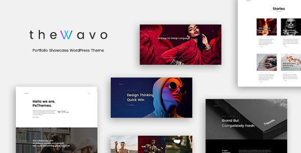The Wavo - Portfolio Showcase WordPress Theme - Portfolio Creative