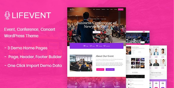 Lifevent - Conference WordPress Theme - Events Entertainment