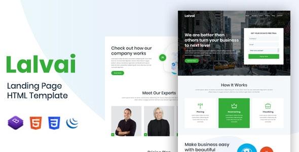 Lalvai - Landing Page HTML Template - Technology Site Templates