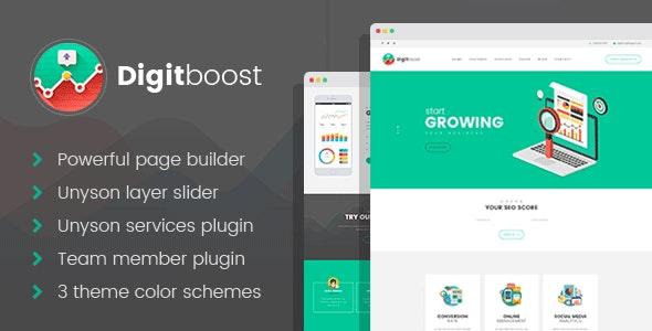 DigitBoost - Digital Marketing & SEO Agency WordPress theme - Business Corporate