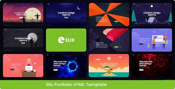 Elix - Responsive Multipurpose Business Template - Portfolio Creative