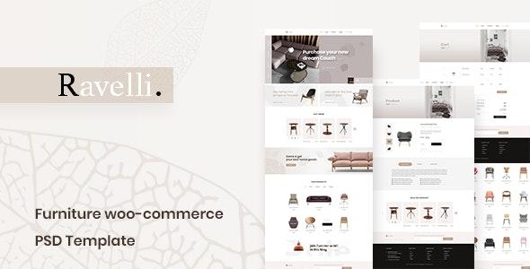 Ravelli- Furniture WooCommerce PSD Template - Retail PSD Templates