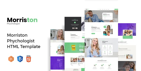 Morriston - Psychologist & Counseling HTML Template - Health & Beauty Retail