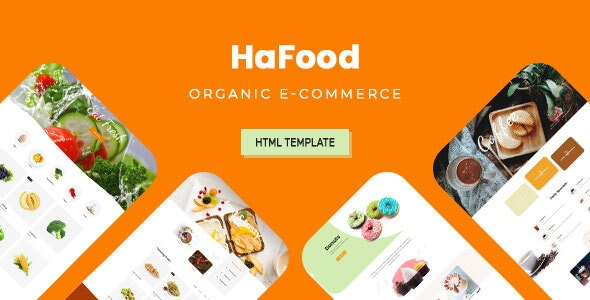 HaFood - Organic E-commerce HTML Template - Shopping Retail