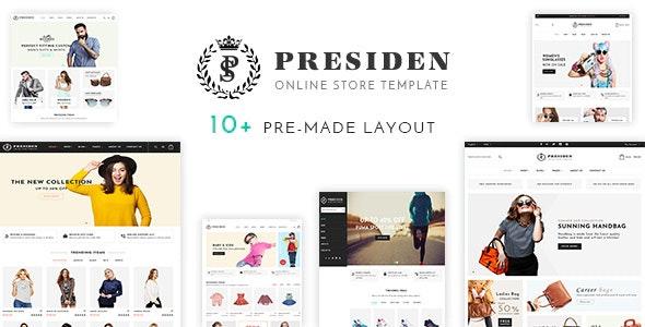 Presiden - Fashion eCommerce HTML Template - Fashion Retail