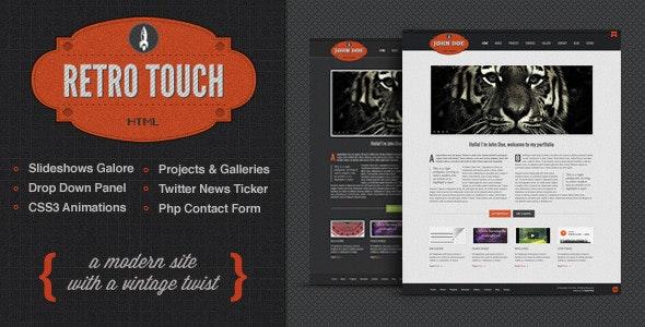Retro Touch - Creative Portfolio Html Template - Portfolio Creative