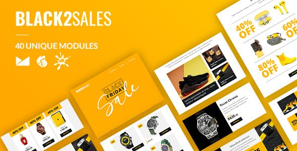 Black2Sales Email-Template + Online Builder - Newsletters Email Templates