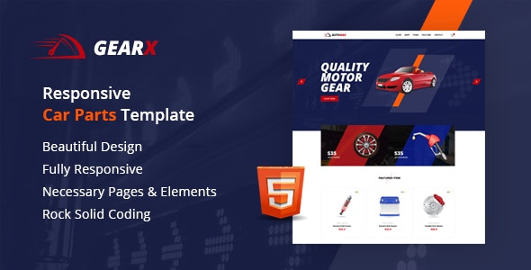 Gearx - Responsive Car Parts Template - Retail Site Templates