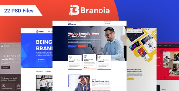 Brandia - Next Generation Business and Firm PSD Template - Business Corporate