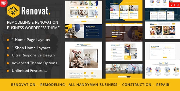 Renovat - Construction Building - Business Corporate