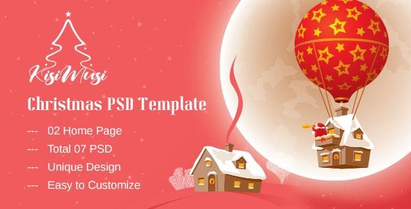 Kisimusi - Christmas PSD Template - Events Entertainment