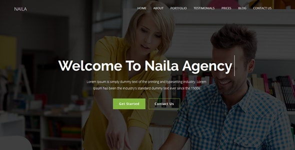 Naila - One Page MultiPurpose WordPress Theme - Corporate WordPress