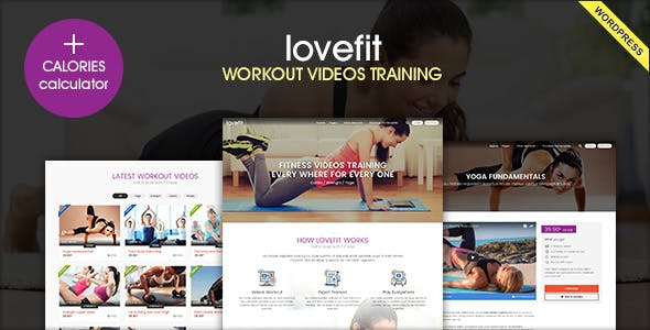 LOVEFIT - Fitness Video Training WordPress Theme