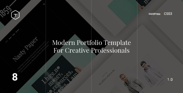 Eight - Responsive Portfolio WordPress Theme - Portfolio Creative