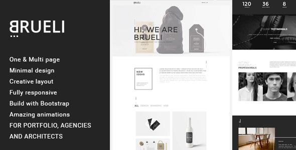 Brueli - Minimal Portfolio / Agency / Architect WordPress Theme - Portfolio Creative