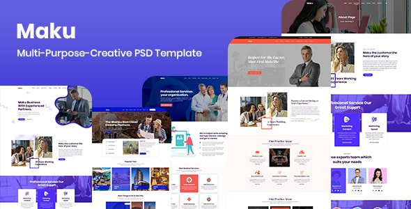 Maku - Multi-Purpose-Creative PSD Template - Business Corporate