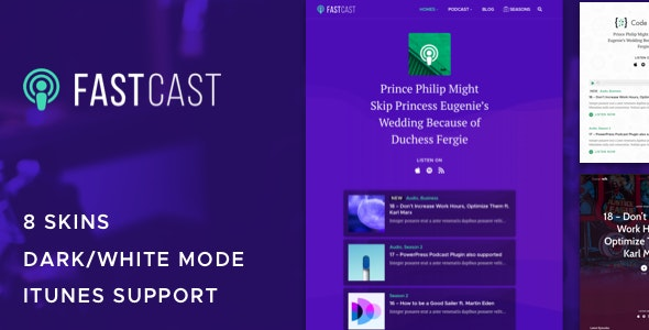 Fastcast - Podcast WordPress Theme - Blog / Magazine WordPress