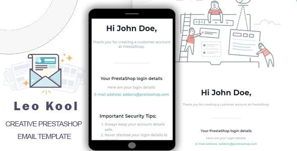 Leo Kool - Responsive Prestashop Email Template - Email Templates Marketing