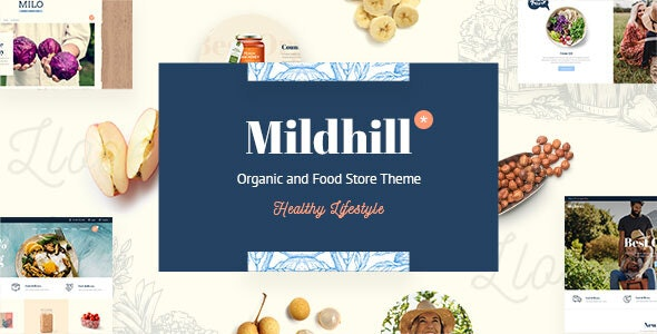 Mildhill - Organic and Food Store Theme - WooCommerce eCommerce