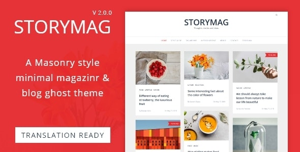 Storymag - Minimal Masonry Style Magazine and Blog Ghost Theme - Ghost Themes Blogging