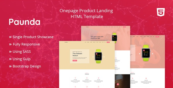 Paunda - Product Landing Page - Business Corporate