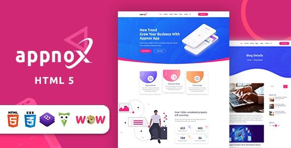 Appnox - Product Landing HTML 5 Template - Business Corporate
