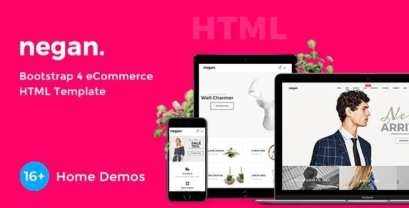 Negan - Minimal eCommerce HTML Template - Fashion Retail