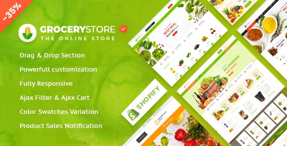 Grocery Store - Vegetable , Organic & Supermarket  Responsive Shopify Theme - Shopify eCommerce