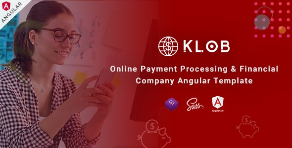 Klob - Angular Online Banking & Payment Processing Template - Business Corporate