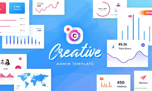 Creative - Responsive Admin Dashboard Template by PixelStrap