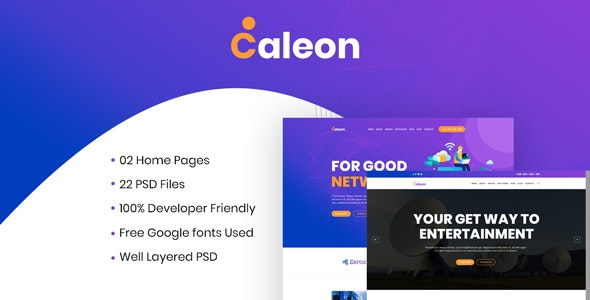 Caleon - Cable TV & ISP Business PSD Template - Business Corporate