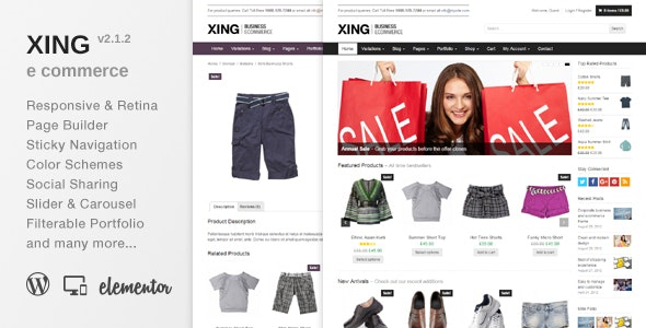 Xing - Business / ecommerce WordPress Theme - WooCommerce eCommerce