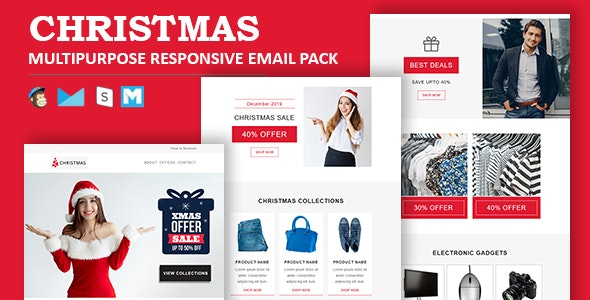 Christmas - Multipurpose Responsive Email Template - Newsletters Email Templates