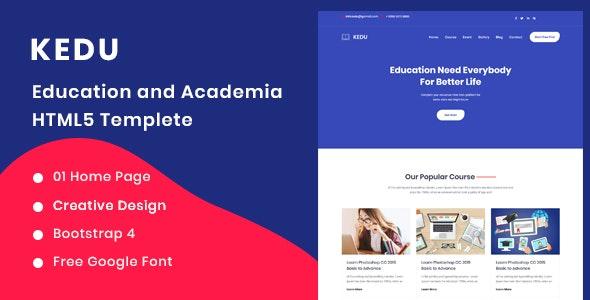 Kedu - Education and Academia HTML5 Template - Business Corporate