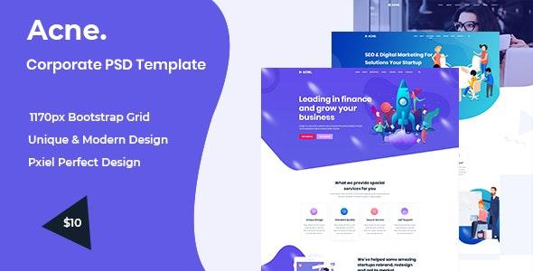 Acne - Multipurpose PSD Template - Business Corporate