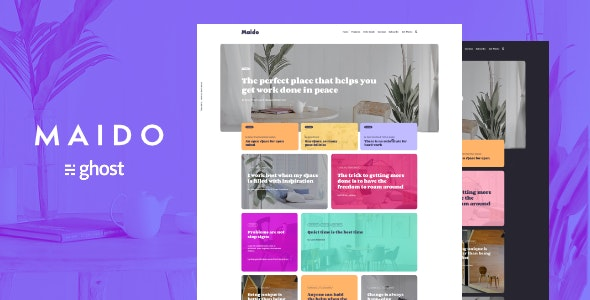 Maido - Multipurpose Ghost Blog Theme - Ghost Themes Blogging
