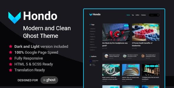 Hondo - Multipurpose Ghost Blog - Ghost Themes Blogging