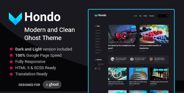 Hondo - Multipurpose Ghost Blog