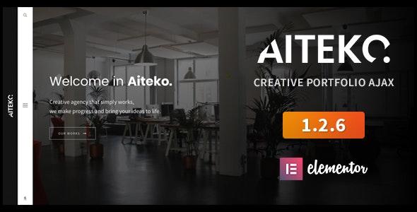 Aiteko - Creative Portfolio Ajax Elementor WordPress Theme - Portfolio Creative