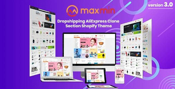 MAXMIN - Dropshipping AliExpress Clone Shopify Theme - Shopping Shopify