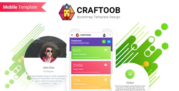 Craftoob | Mobile First Responsive HTML Template - Mobile Site Templates