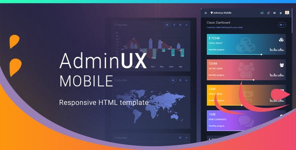 AdminUX Mobile | Responsive HTML Template