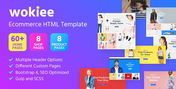 Wokiee - Ecommerce HTML Template - Retail Site Templates