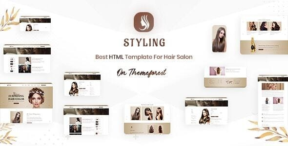 Styling - Barber shop & Hair Salon HTML Ecommerce Template - Retail Site Templates