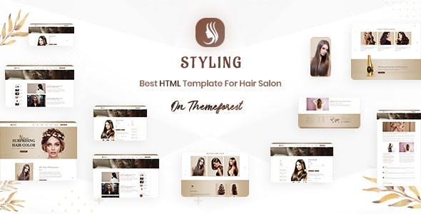 Styling - Barber shop & Hair Salon Bootstrap 4 & 5 HTML Ecommerce Template