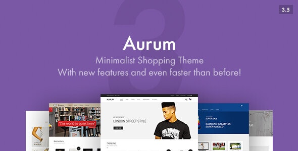 Aurum - Minimalist Shopping Theme - WooCommerce eCommerce