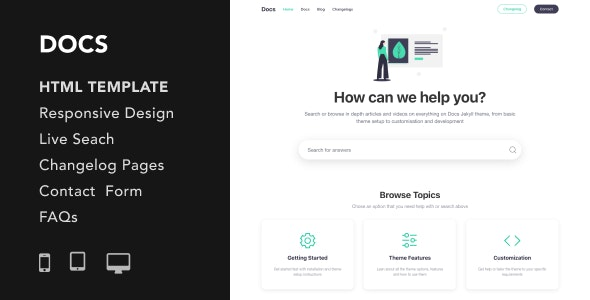 Docs - Documentation and Manual HTML5 Responsive Template - Miscellaneous Site Templates
