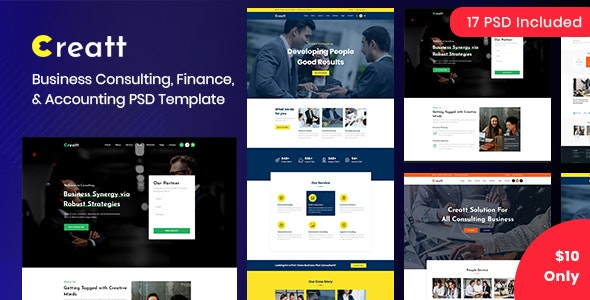 Creatt - Consulting PSD Template - Business Corporate